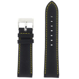 Main Nylon black Watch Band LEA629 | TechSwiss | Front