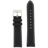 Main Nylon black Watch Band LEA622 | TechSwiss | Front