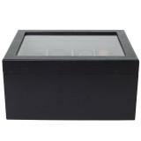 Wood Belt Box | Men's Organizer Case | Elegant Tie display | TechSwiss TSBX8300BLT | back