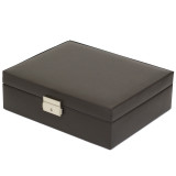 TechSwiss TSA521BRN | Mens Brown Leather Valet Case | TechSwiss | Closed