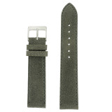 Grey Vintage Leather Watch Strap | Textured Grey Leather Watch Band | Distressed Gray Leather Watch Band | TechSwiss Grey Watch Strap | Main