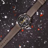 Grey Vintage Leather Watch Strap   Textured Grey Leather Watch Band   Distressed Gray Leather Watch Band   TechSwiss Grey Watch Strap   Sample 1