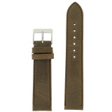 Brown Vintage Leather Watch Strap | Textured Brown Leather Watch Band | Distressed Brown Leather Watch Band | TechSwiss Brown Watch Strap LEA354 | Main
