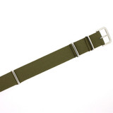 Nylon Watch Strap with SS Buckle - Olive Green Sport Strap 18mm 20mm