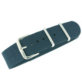 Nylon Strap with SS Buckle - Blue