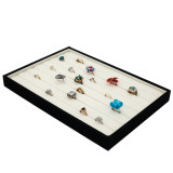 Jewelry Tray Organizer Ring Earring Stackable Canvas