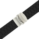 Watch Band Silicon Rubber Deployment Buckle Adjustable 20mm 22mm