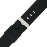24mm Mens Watch Band Silicon Rubber Waterproof Strap