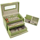 Lime Leather Jewelry Box | TechSwiss TS382LME | Main