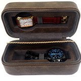 Watch Case for 2 watches Brown 200 BRN Main Picture