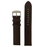 Anti Allergic Genuine Leather Watch Band Brown