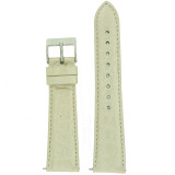 Genuine Crocodile Watch Band Champagne Cream Padded Built-In Spring Bars Ladies Length
