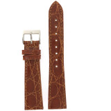 Genuine Crocodile Watch Band Honey Brown - Non Padded Stitched