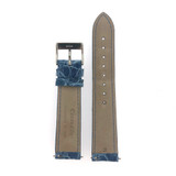 Genuine Crocodile Padded & Stitched Watch Band Slate Blue - Quick Release