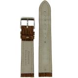 Brown Genuine Crocodile Watch Band Matte | TechSwiss  LEA852 | Back