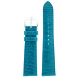 Genuine Lizard Watch Band | Blue Exotic Skin Watch Band LEA722 | Main