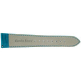 Genuine Lizard Watch Band   Blue Exotic Skin Watch Band LEA722   Rear