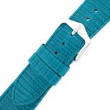 Genuine Lizard Watch Band   Blue Exotic Skin Watch Band LEA722   Buckle