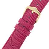 Pink Fuchsia GENUINE Lizard Watch Band - Quick-Release