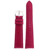Genuine Lizard Watch Band | Pink Exotic Skin Watch Band LEA728 | Main