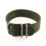Nylon Watch Band One Piece Sport Style Military Army Green- 22mm