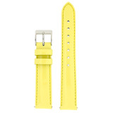 Genuine Leather Watch Band | Yellow Patent Leather Watch Band LEA404 | Main