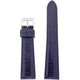 Navy Blue Genuine Lizard Watch Band 18mm SHORT Length- Quick-Release
