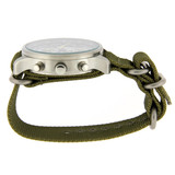 18mm Nylon Strap with Rounded Buckle One-Piece - Olive Green