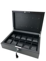 Carbon Fiber Watch Box 10 watches open