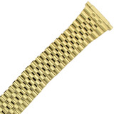 XL Stretch Expansion Watch Band Long Metal Gold-tone Mens 16mm-20mm