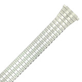 XL Stretch Expansion Watch Band Long Metal Silver-tone 16mm-20mm