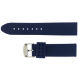 Blue Silicone Waterproof Watch Band   TechSwiss RS121BLU   Back