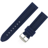Blue Silicone Waterproof Watch Band | TechSwiss RS121BLU | Side