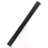 Stretch Expansion Watch Band Black Silver-tone Metal 16mm-20mm