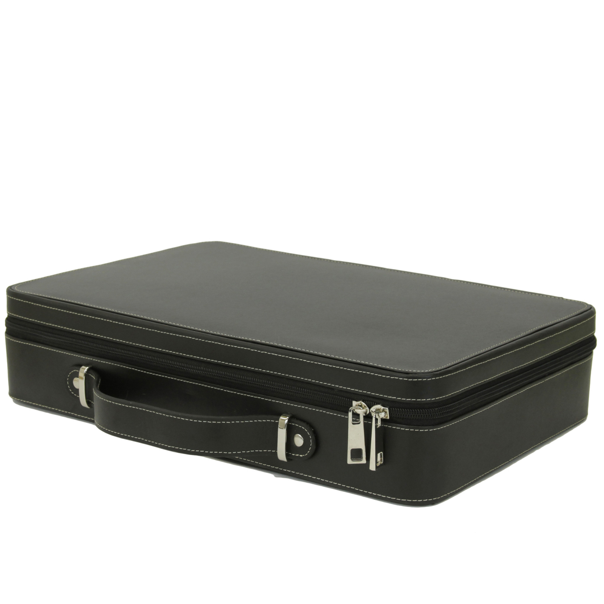 5593e6f08002 Large 21 Watch Briefcase Black Leather