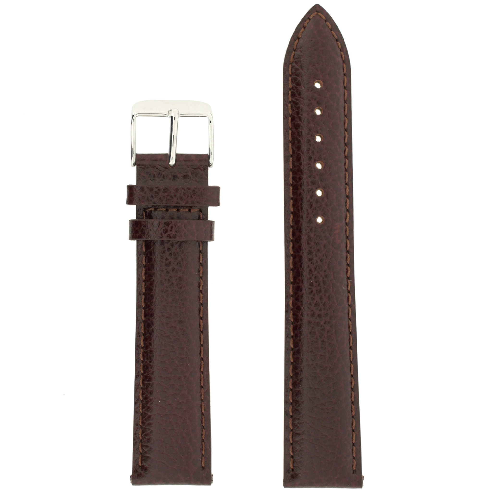 fa590ae7a3 Long Dark Brown Leather Watch Band