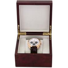 Extra Large Watch Box | Single Burlwood Watch Gift Case | TechSwiss TSBOXBUR1