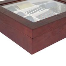 Cherry Wood Tie Box   Tie Display Case TechSwiss TIEBOX1   Cherry Tie Case   Wood Tie Organizer   Finish