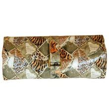 Leopard Print Jewelry Travel Roll | Front View