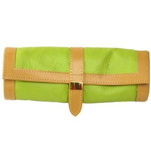 Lime Green Jewelry Travel Roll Up - TechSwiss - TS10641GREEN - Main
