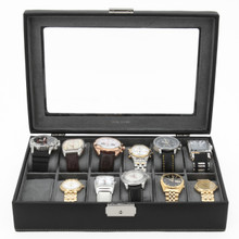 Watch Display Box with Window in Black | TS2890BLK | Third Photo