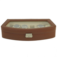 TS563BRN brown leather watch case