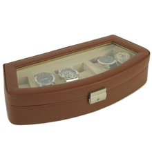 TS563BRN side view leather watch case