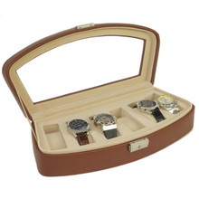TS563BRN leather watch case open