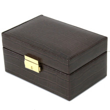 Compact Watch Cufflink Box | Compact Mens Cases | Small Dresser Top Organizers | Closed