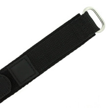 Black Velcro Watch Band | TechSwiss Black Velcro Watch Strap | VEL100BLK | Velcro Clasp