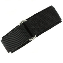 Black Velcro Watch Band | TechSwiss Black Velcro Watch Strap | VEL100BLK | Main