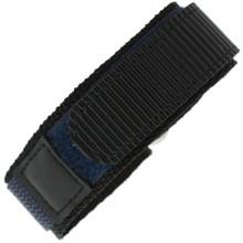 Nylon Velcro Sport Watch Strap - Navy/Black