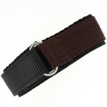 Brown Velcro Watch Band | TechSwiss Brown Velcro Watch Strap | VEL100BRN | Main