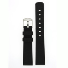 Silicone Rubber Watch Band in Black